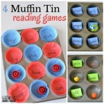 4 clever reading games that use a muffin tin! Perfect for learning at home or school.
