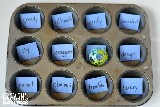 Build Tier 2 vocabulary with this muffin tin reading game!