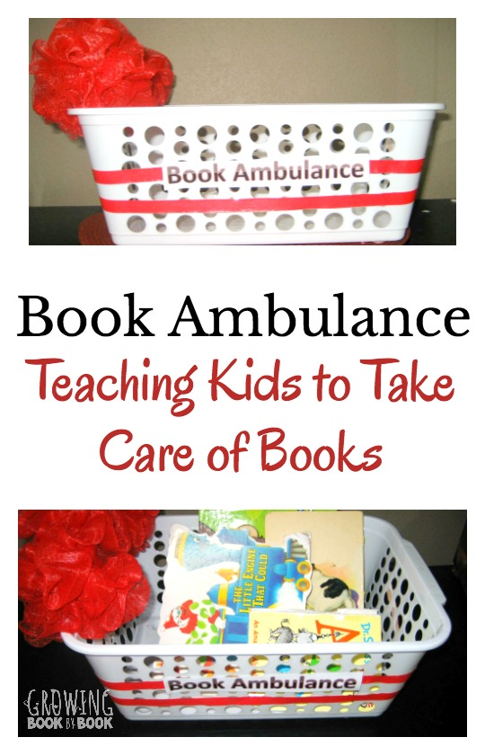 Teach kids to take care of books with this simple to make book ambulance. Plus, tips for repairing books that are damaged.