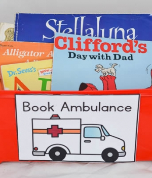 create a book ambulance for books that need repair.