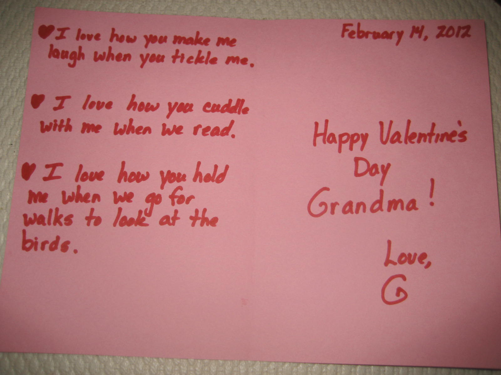 Send a Little Love – Picture of a Valentine Card