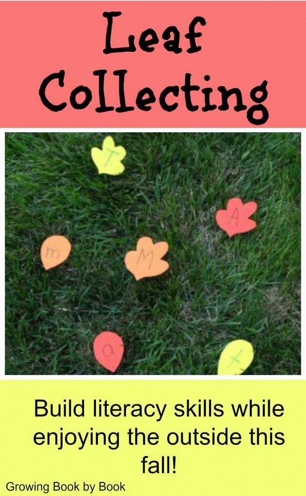 alphabet activity for outdoor fall fun