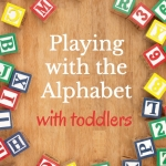 Learning the alphabet activities for toddlers to help learn the ABCs.