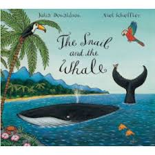 the snail and the whale, sensory bins