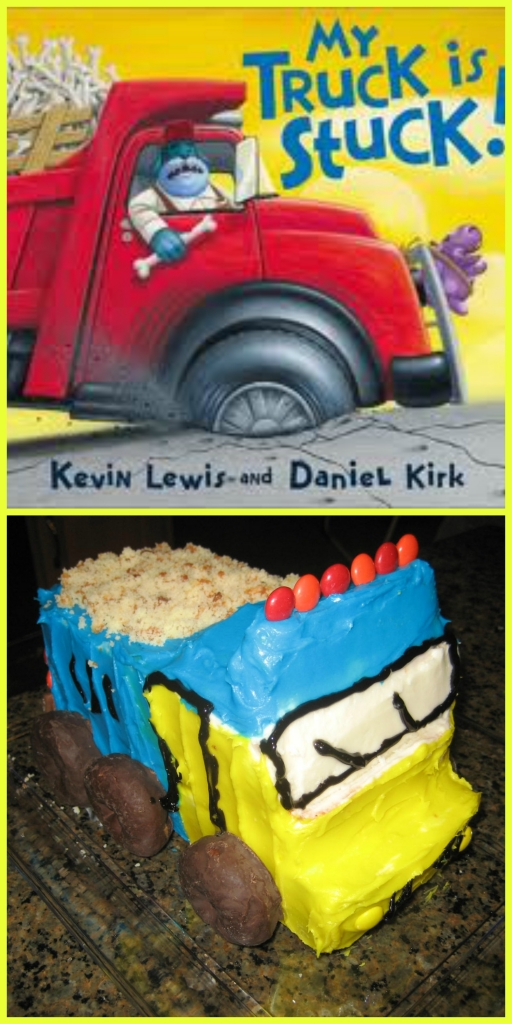 cakes based on books, truck cake