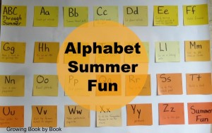 Alphabet Summer Fun, summer bucket list, ABC books and activities