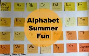Alphabet Summer Fun, summer bucket list, ABC books and activities