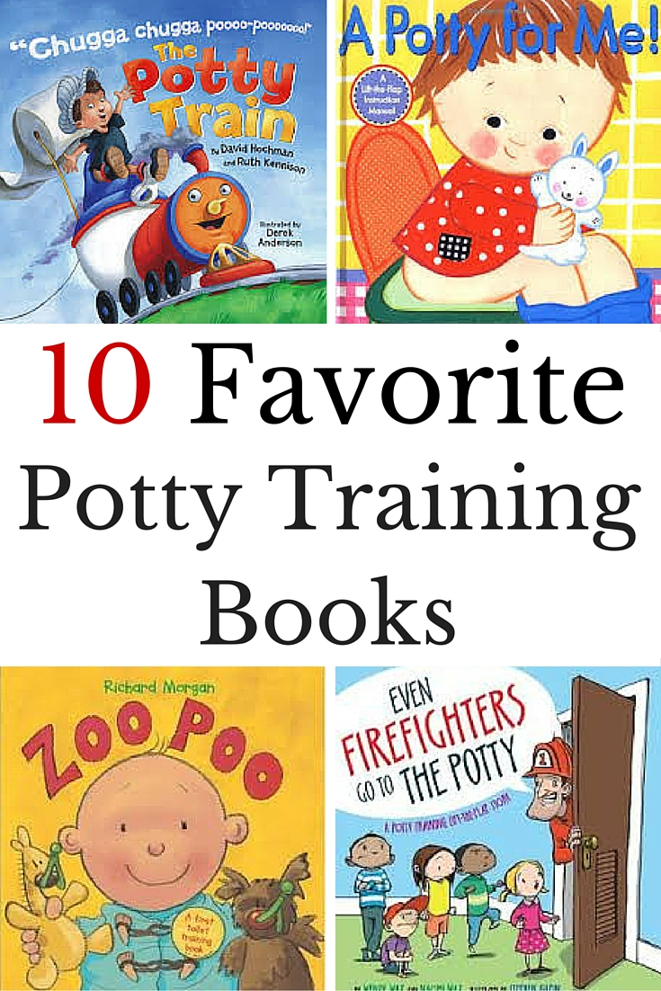 10 of our favorite potty training books for kids to help kids learn to use the potty.