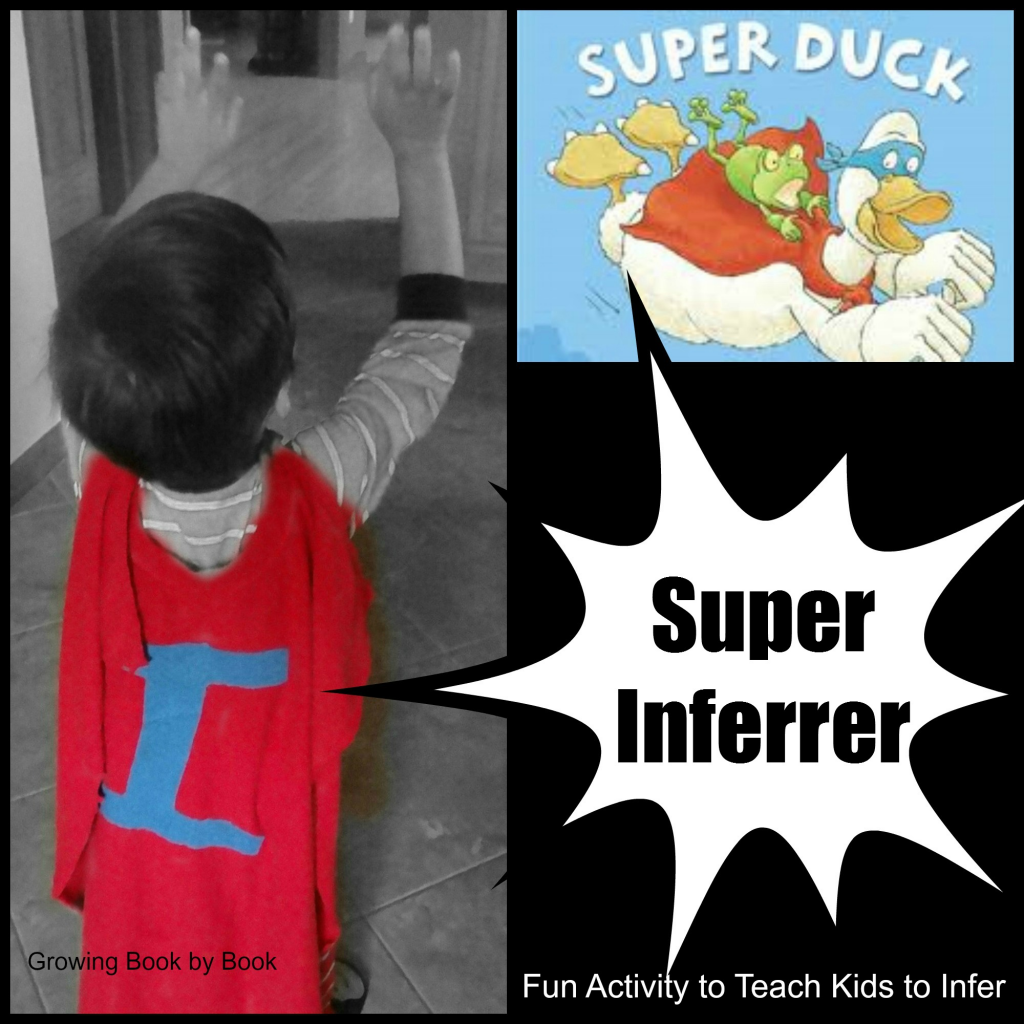Super Inferrer activity to teach kids how to infer