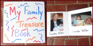 Directions for creating your own family treasure board book.