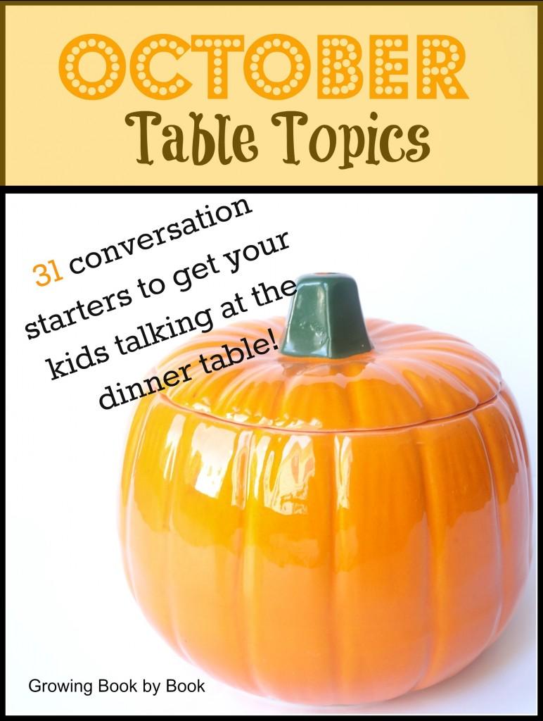 October Table Topics