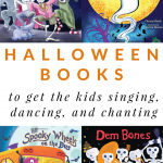 Halloween Books That Will Get the Kids Singing, Chanting and Dancing! Perfect holiday read-alouds for preschool or toddler circle time.