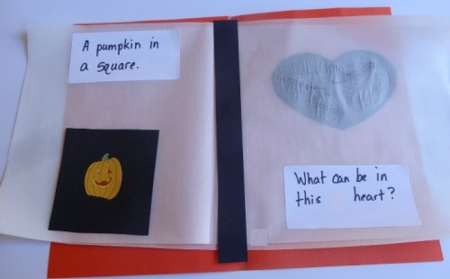 making books with kids: vellum shape book from growingbookbybook.com