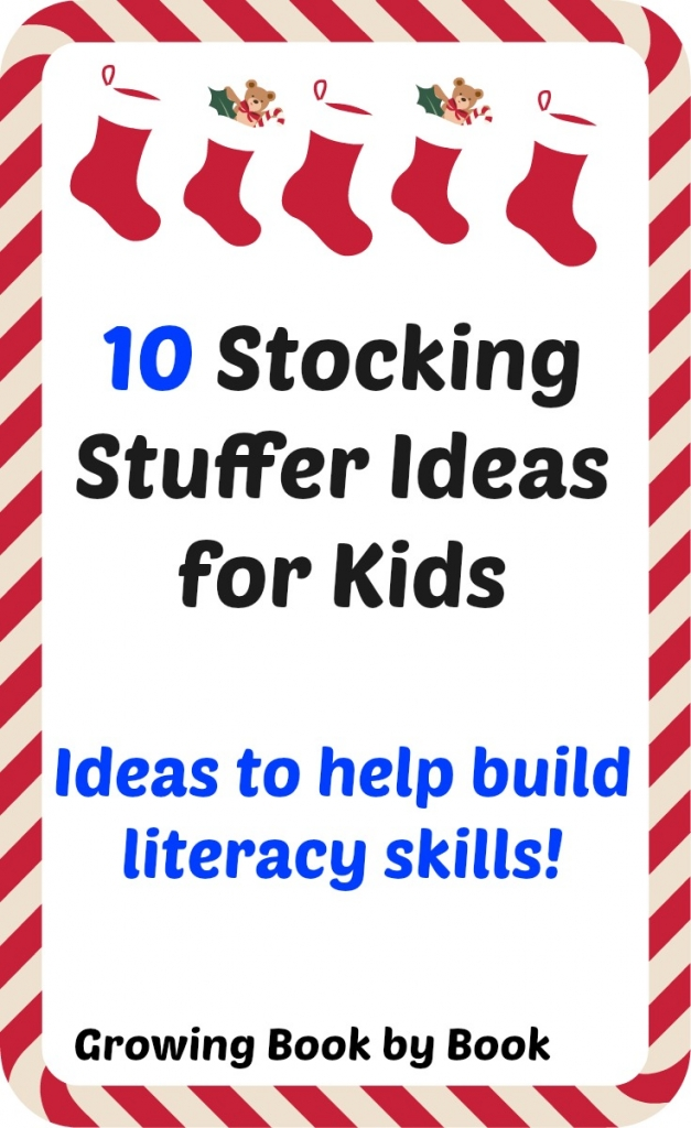 Stockig stuffer ideas to help build literacy skills from growingbookbybook.com