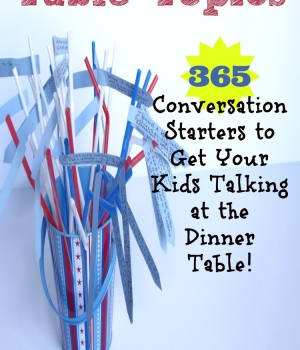365 Conversation Starter to get your kids talking at the dinner table from growingbookbybook.com