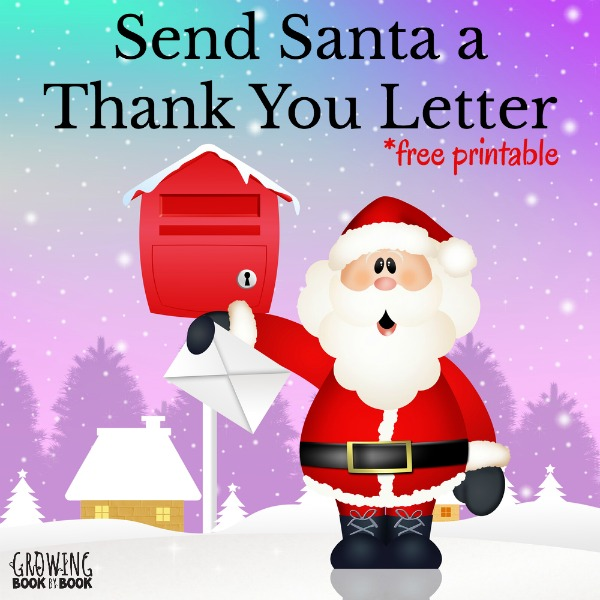 Grab your free printable to write Santa a thank you letter for all those holiday gifts the kids received.
