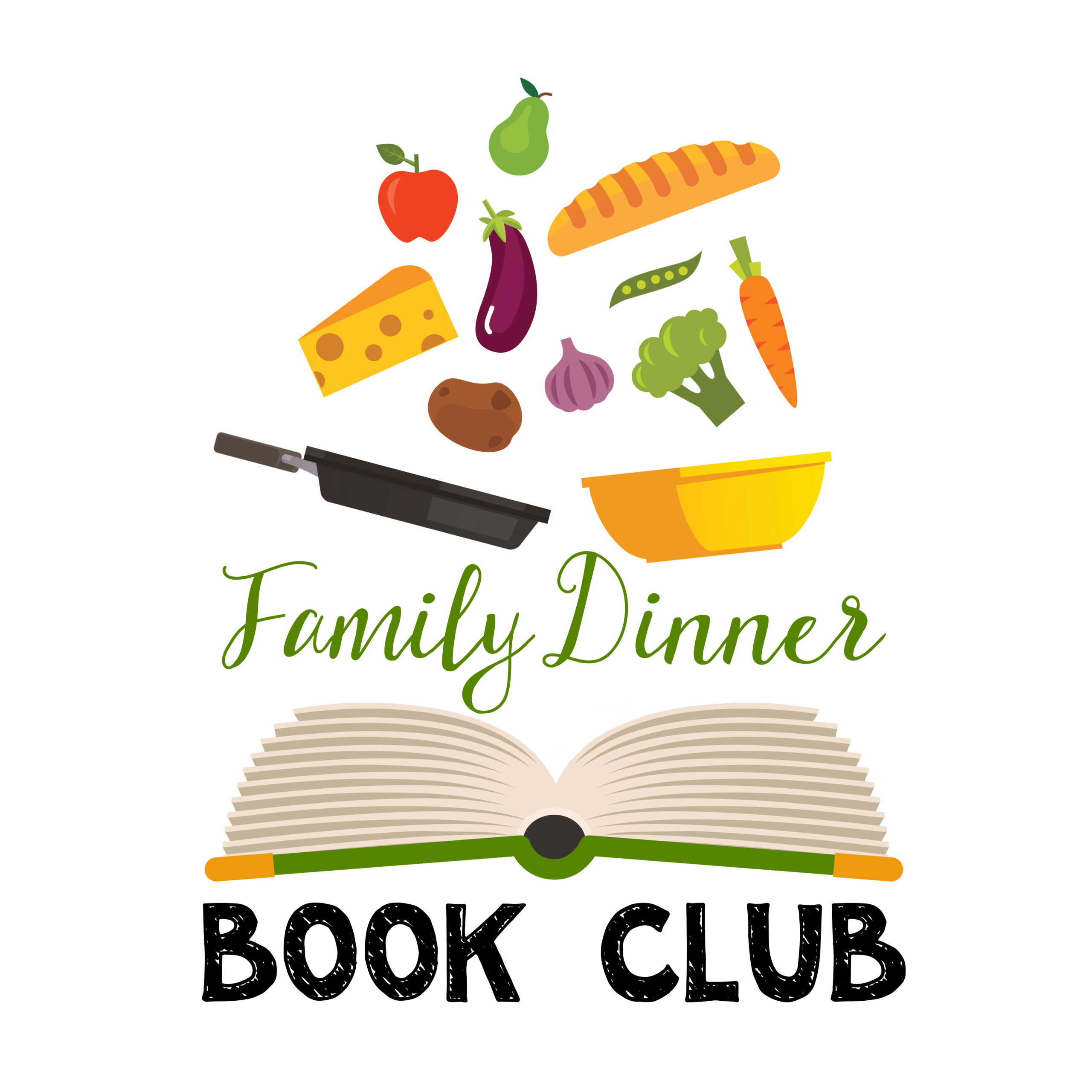 Over 26 Family Dinner Book Club ideas together. Themed menus, table crafts for families, question prompts, and family service projects ideas included for FREE.