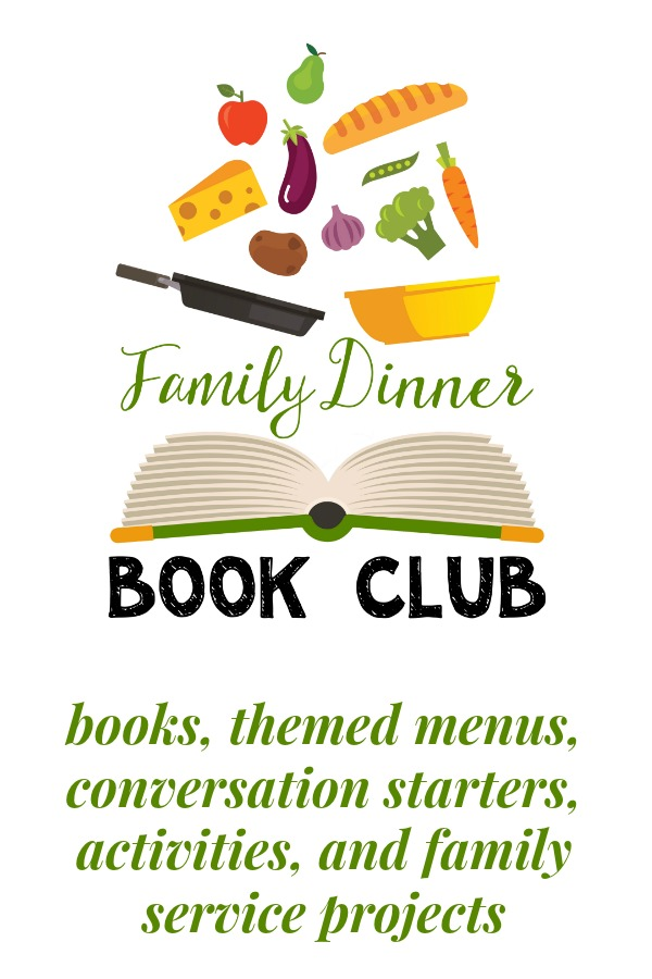 Family Dinner Book Clubs that encourage your family to read and spend time together. Each month there is recommended book(s), table topics, themed menu, activities, and a family service project for you to share.