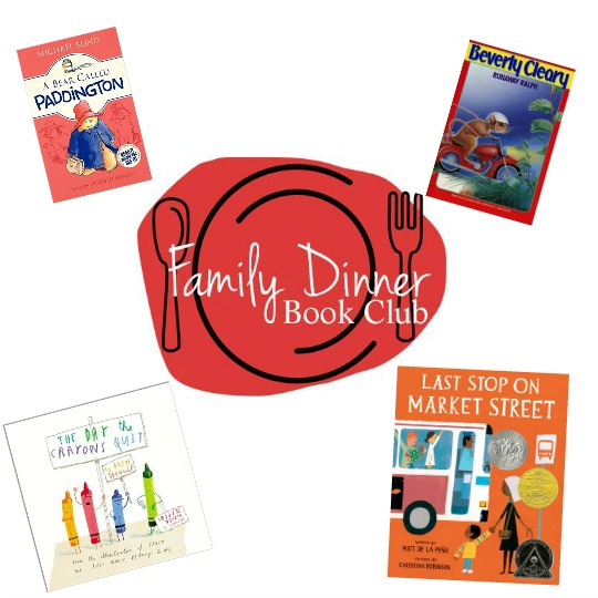 Over 25 different family dinner book clubs for your family to enjoy based on books your family will love.
