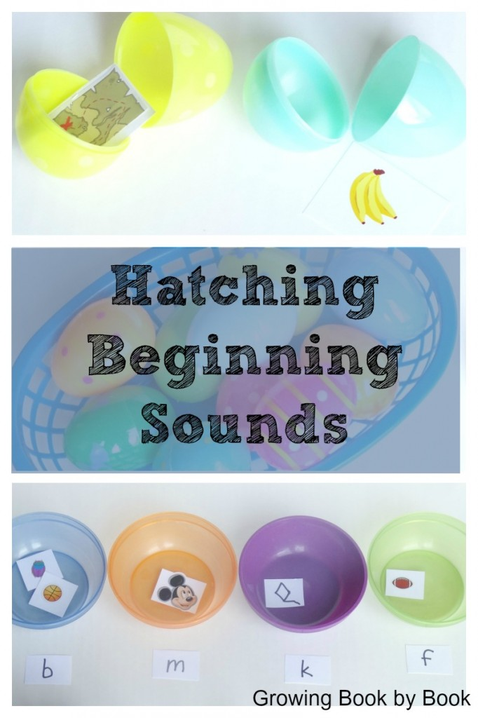 Hatching beginning sounds easter eggs game from growingbookbybook.com
