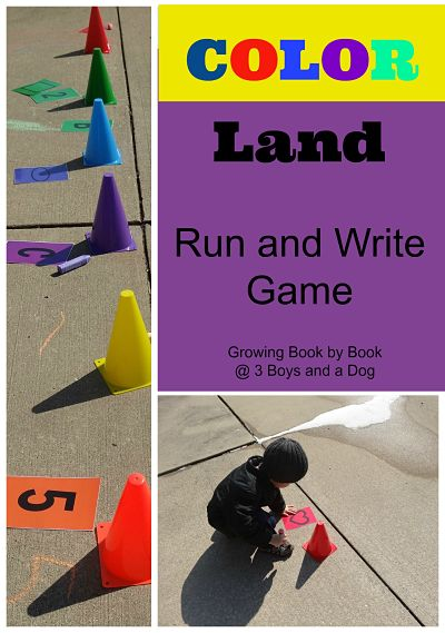 Color Land Run and Write Game to build literacy skills