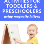 alphabet games using magnetic letters
