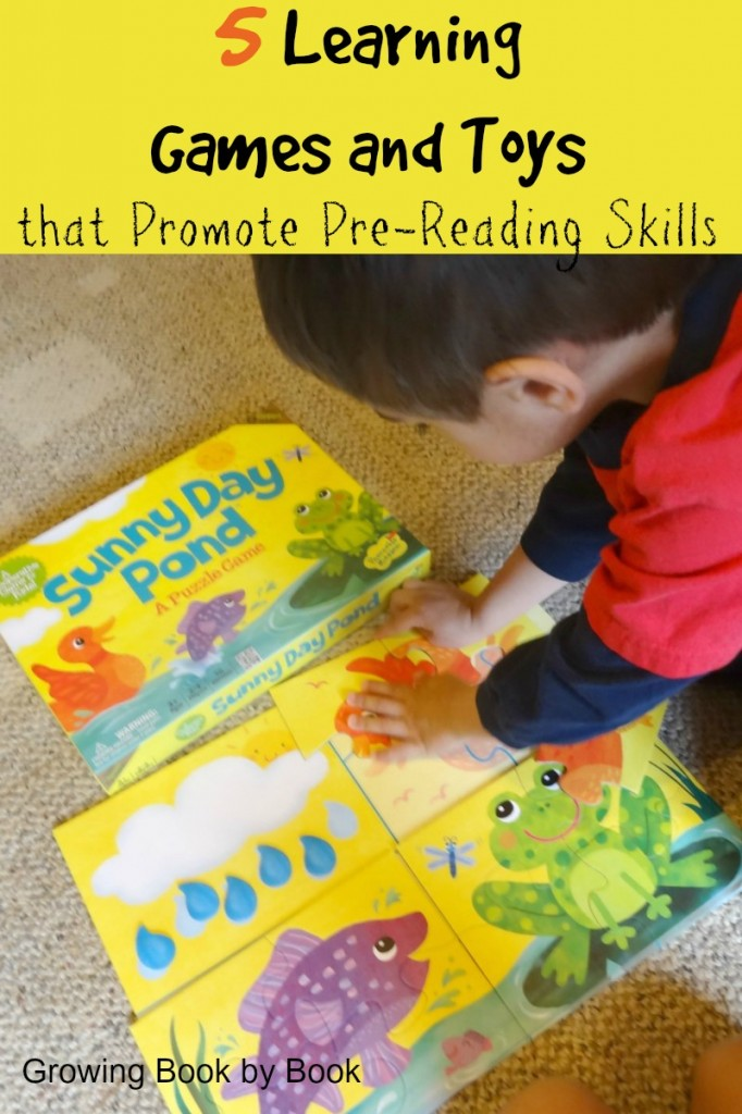 Learning games and toys that develop pre-reading skills from growingbookbybook.com