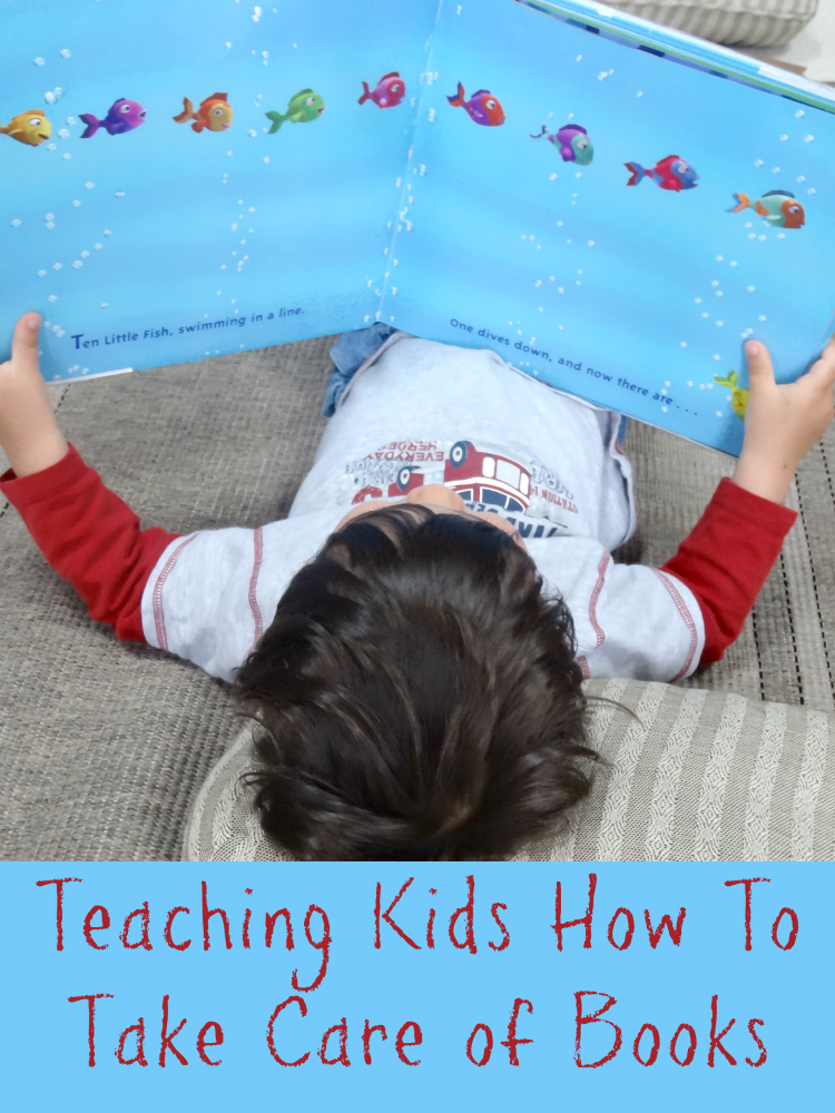 Tips for teaching kids to take care of books at home or at school.