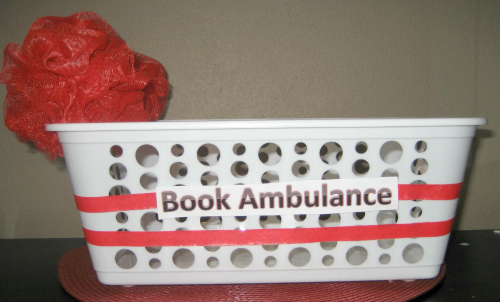 Teaching kids to take care of books with a book ambulance from growingbookbybook.com