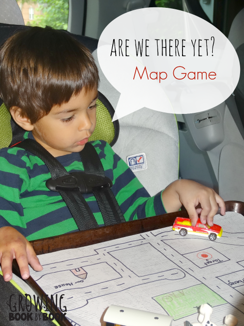 Car Trip Games for Kids:  Are We There Yet Maps help to keep little one busy and build literacy skills from growingbookbybook.com