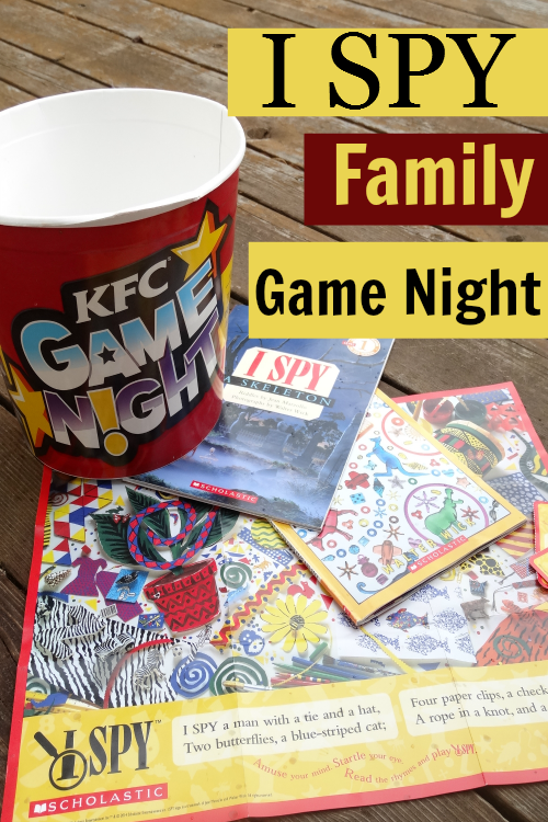 Start a Family Game Night Tradition-I SPY is a great one to start with for lots of different ages!