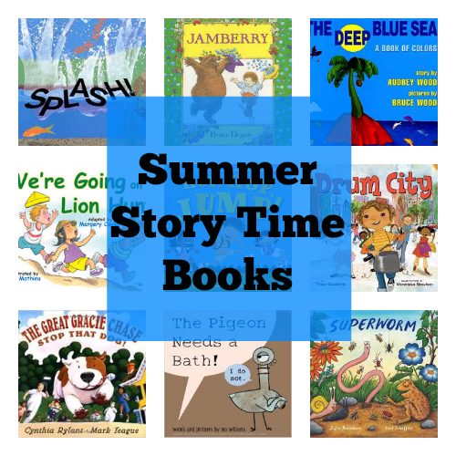 Summer Story Time books from growingbookbybook.com