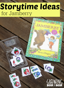 Storytime Ideas for Jamberry by Degen from growingbookbybook.com