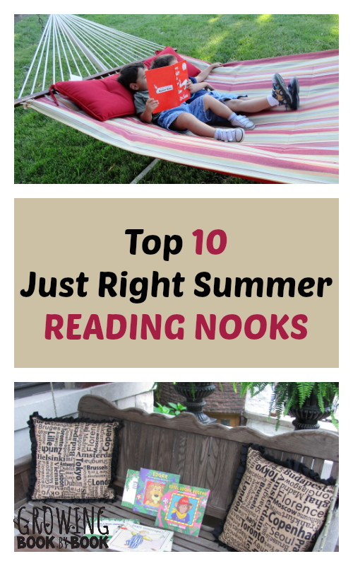 Just Right Summer Reading Nooks from growingbookbybook.com