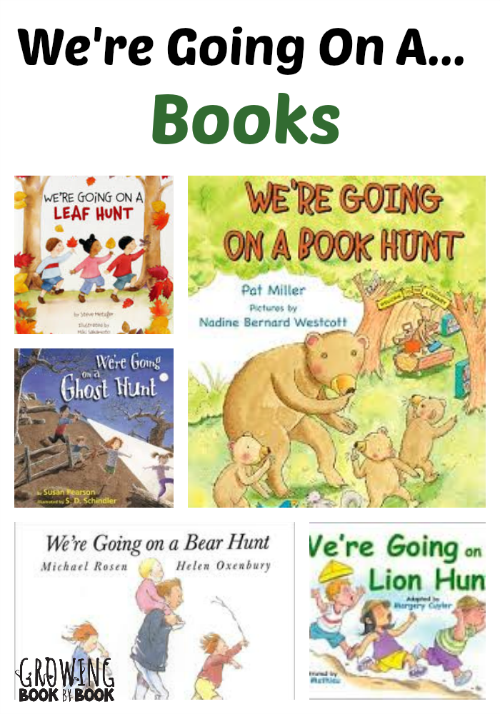 We're Going On A... Books from growingbookbybook.com
