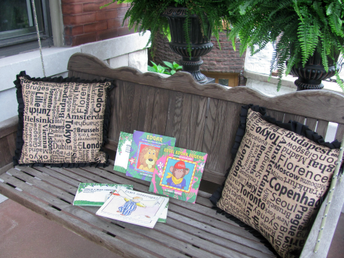 Porch swing reading nook from growingbookbybook.com