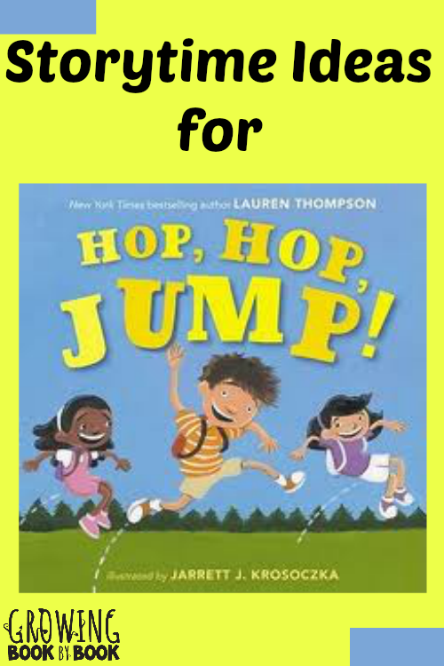 fun storytime ideas to go along with the book Hop, Hop, Jump! from growingbookbybook.com