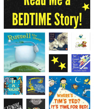 Read Me a Bedtime Story book suggestions for kids from growingbookbybook.com