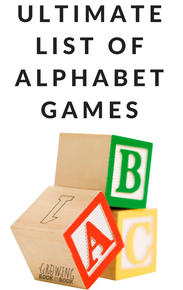 Hands on alphabet games for kids!