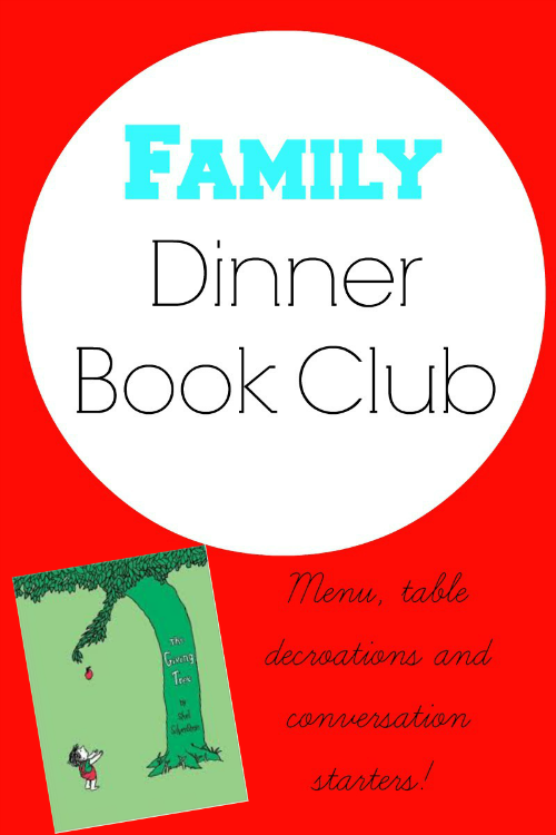The Giving Tree for Family Dinner Book Club from growingbookbybook.com