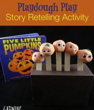 Five Little Pumpkins book and activity from growingbookbybook.com