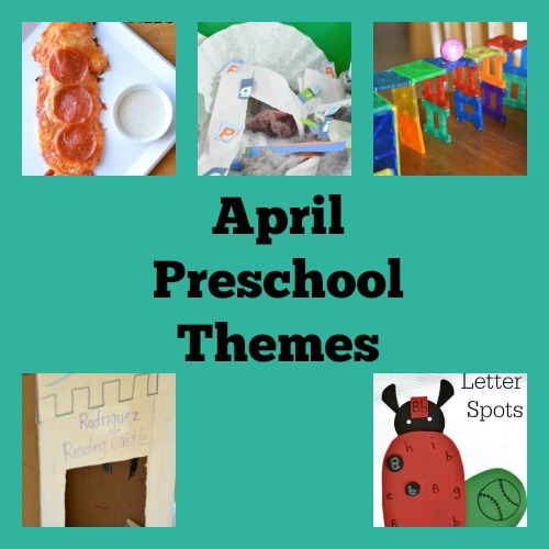 preschool themes for April