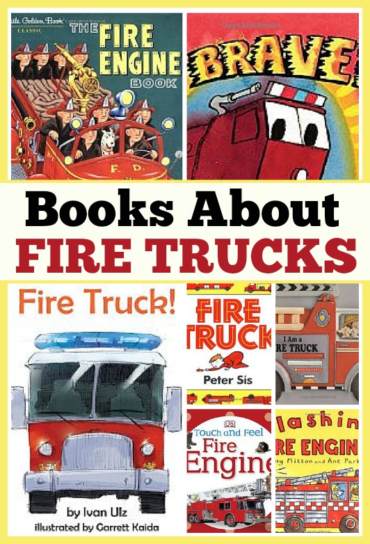 Favorite books about fire trucks for kids from growingbookbybook.com