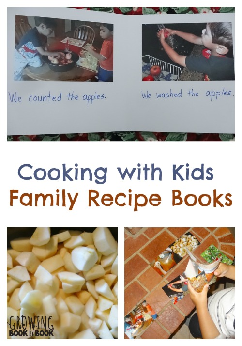 Create a family recipe book after cooking with kids.  Part of the #playfulpreschool series from growingbookbybook.com