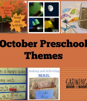 Preschool themes for October that are playful and fun from growingbookbybook.com