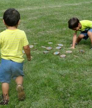 alphabet activities: letter harvesting
