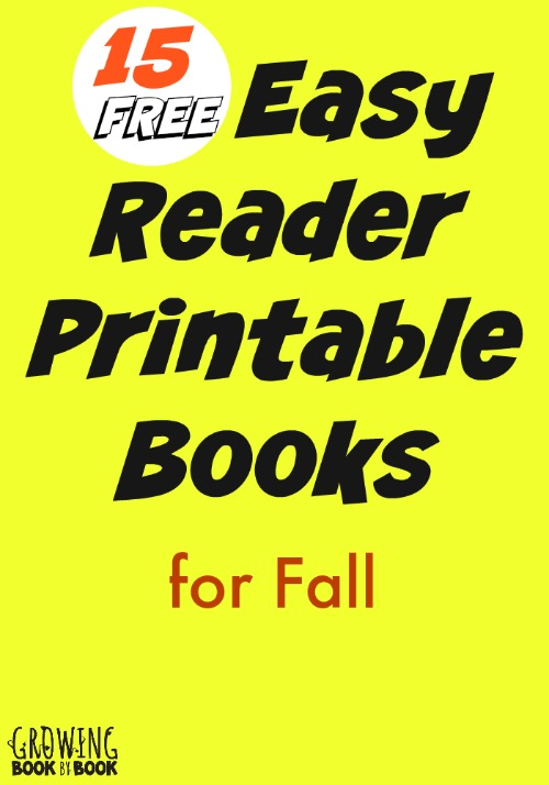 emergent and early reader printable books for kids are perfect for beginning readers from growingbookbybook - Free Printable Books For Kids
