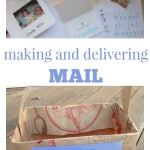 Post office play to build writing skills for preschoolers from growingbookbybook.com