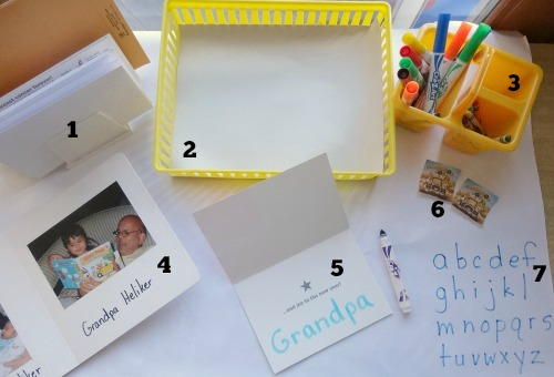 Setting up a mail making station for post office play is great for #playfulpreschoolplay from growingbookbybook.com