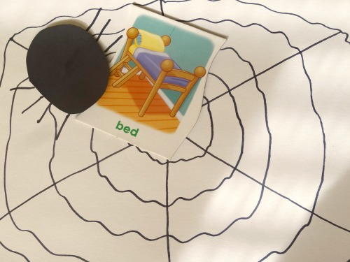 spider web rhyming game and preschool song